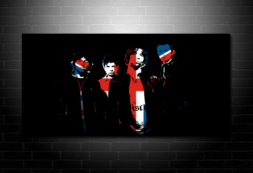 oasis union jack canvas, noel gallagher canvas, liam and noel gallagher canvas, music canvas art prints, liam gallagher art print, oasis canvas print