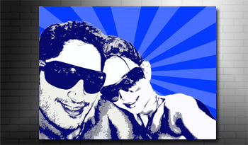 pop art photo on canvas art