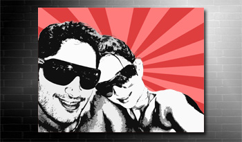 photo to canvas pop art style, photo on canvas modern art