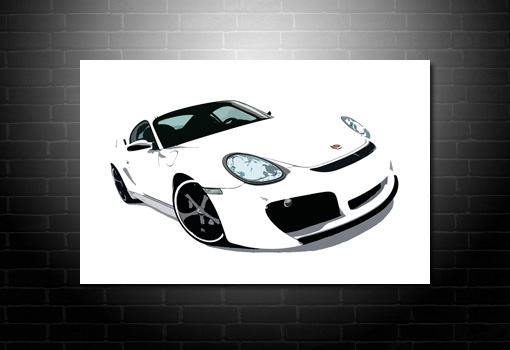 Porsche Canvas Wall Art, Porsche canvas art print, porsche wall art
