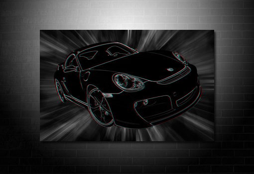 Porsche Canvas Wall Art, 3d canvas art print, porsche wall art