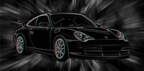 Porsche 911 Canvas, 3d canvas art, porsche canvas art