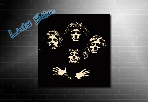 Bohemian Rhapsody inspired canvas Queen canvas print, freddie mercury pop art, queen canvas printing