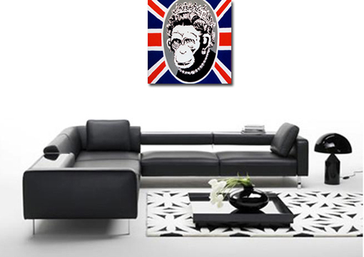 banksy the queen, banksy canvas art, banksy the queen canvas