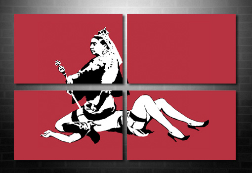 Banksy Queen Vic wall art, banksy canvas uk, banksy art prints uk, banksy prints uk