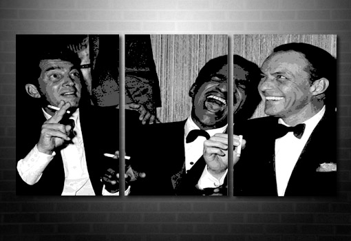 Rat Pack canvas art print, Rat Pack Canvas, frank sinatra canvas, rat pack art, Rat Pack pop art