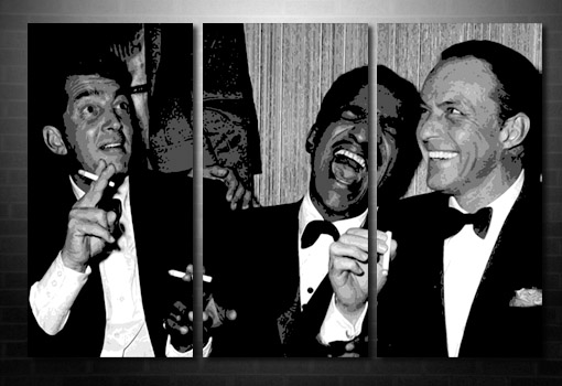 Rat Pack wall art, Rat Pack Canvas, rat pack art, Rat Pack pop art, Frank Sinatra canvas