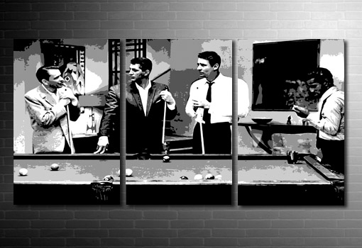rat pack movie art print, rat pack canvas print, Rat Pack pop art, rat pack wall art, frank sinatra canvas