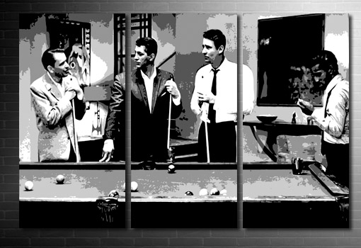 rat pack canvas art print, frank sinatra movie art print, Rat Pack pop art, rat pack wall art, frank sinatra canvas