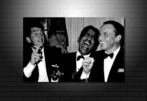Rat Pack Canvas, rat pack wall art, frank sinatra canvas, rat pack art, rat pack artwork