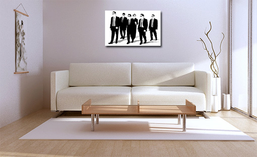 reservoir dogs painting, pulp fiction art, reservoir dogs canvas print