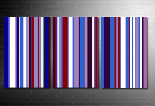 Retro Stripes Canvas, Retro Art Print, Paul Smith canvas, retro art uk