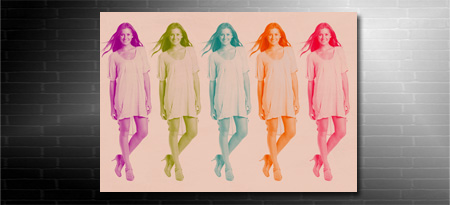 retro style photo on canvas service, your photo on canvas