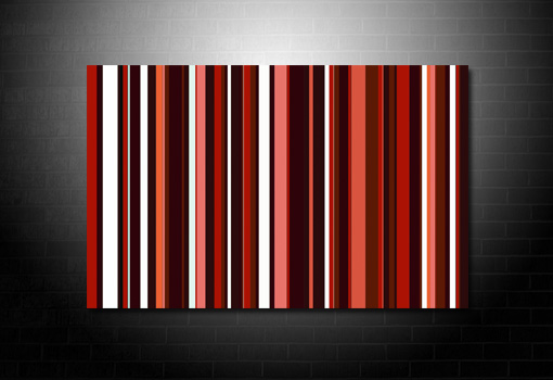 Contemporary Pop Art, Pop Art Work, Retro Stripes Canvas, Paul Smith canvas