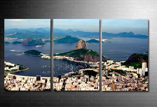 Rio De Janeiro skyline, Rio De Janeiro Canvas print