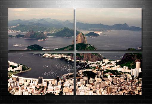 Rio De Janeiro wall Art, Rio De Janeiro skyline
