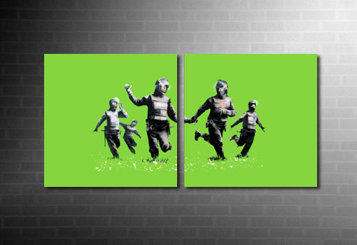 Banksy Riot Coppers Canvas, riot coppers banksy canvas, riot coppers banksy print, banksy canvas prints