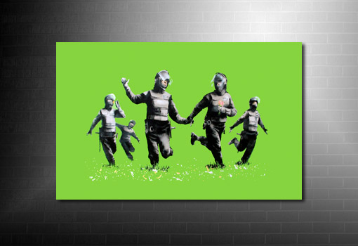 Banksy Riot Coppers Canvas art print, riot coppers banksy print, banksy canvas, banksy canvas prints