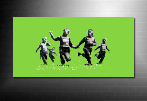 Banksy Riot Coppers Canvas wall art, riot coppers banksy print, banksy canvas, banksy canvas prints