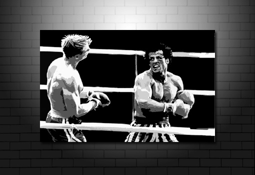 rocky canvas art, rocky canvas print, rocky drago canvas, rocky movie canvas, rocky movie wall art