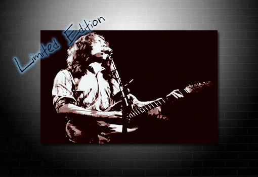 rory gallagher canvas painting