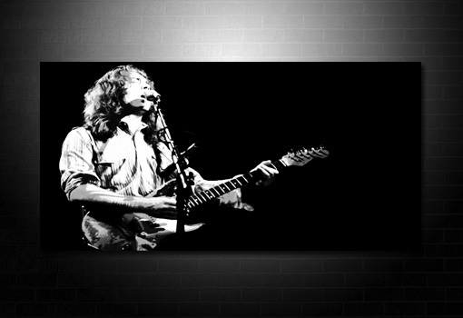 rory gallagher wall art, rory gallagher music print, music canvas prints, rory gallagher canvas print