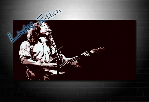 rory gallagher fan art, rory gallagher wall art, rory gallagher music print, music canvas prints, rory gallagher canvas print