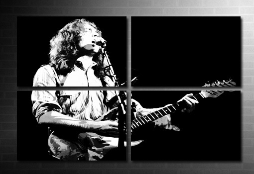 rory gallagher canvas art print, large canvas art, rory gallagher wall art, rory gallagher music print