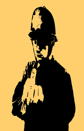 rude copper banksy art, banksy canvas rude copper, banksy cops canvas, banksy wall art, banksy canvas print
