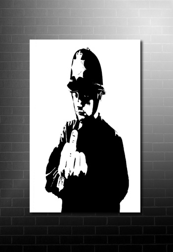 Banksy rude copper canvas art print on canvas, banksy cops print, Banksy rude copper, banksy prints, banksy canvas painting