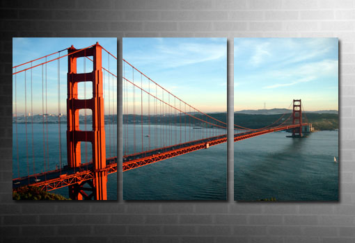 golden gate bridge canvas, san francisco art