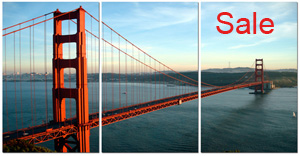 san fran cisco canvas, san francisco wall art, golden gate bridge canvas