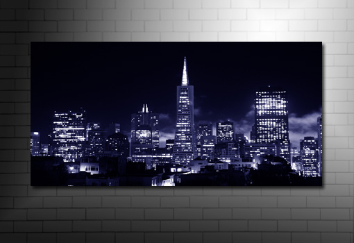 san francisco canvas print, san francisco cityscape