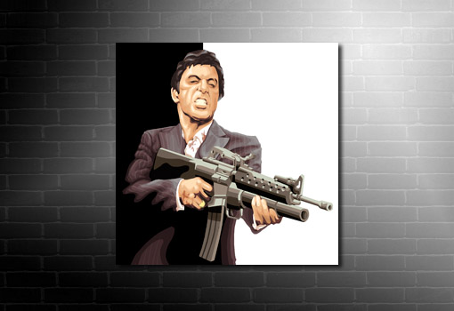 Tony Montana wall art, scarface movie art print, canvas art prints uk, scarface print, scarface pop art