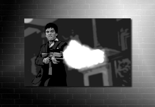 Tony Montana Canvas, scarface canvas, movie wall art, scarface wall art, movie canvas