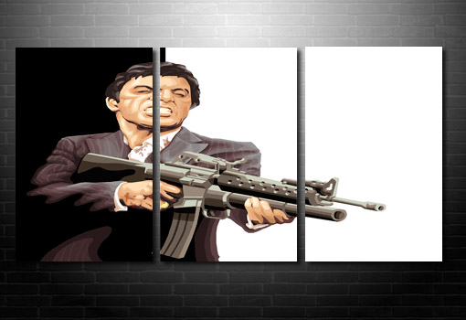 scarface wall art, scarface movie art, scarface movie art print, canvas art prints uk, scarface pop art
