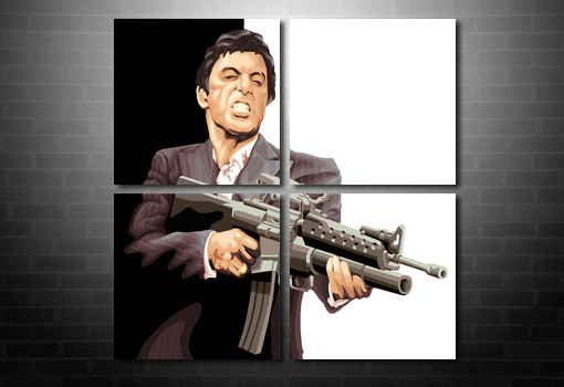 scarface canvas art print, scarface movie art, scarface wall art, scarface movie art print, scarface print