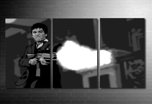 Tony Montana canvas art, scarface canvas, scarface movie art, scarface painting, scarface wall art