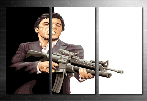 Tony Montana canvas print, scarface wall art, scarface movie art print, canvas art prints uk, scarface pop art