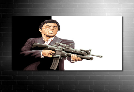 scarface canvas, scarface movie art, scarface wall art, scarface print, scarface pop art