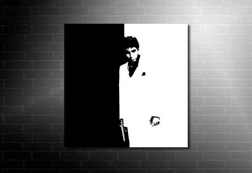 Scarface Canvas artwork, scarface movie art, scarface canvas, scarface wall art, scarface pop art