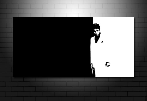 Scarface Canvas wall art, scarface movie art, scarface canvas, canvas prints uk, scarafce painting
