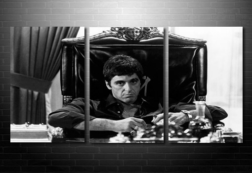 Scarface movie wall art, film canvas art, large scarface canvas, scarface wall art, movie art uk