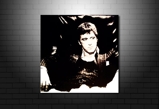 Scarface Canvas Art, scarface movie print, scarface art, al pacino canvas, movie canvas