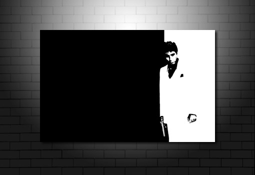 Scarface canvas art, Scarface Canvas artwork, scarface movie art, scarface wall art, scarface pop art