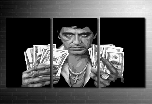 Scarface Canvas wall art, scarface canvas art, scarface movie print, scarface pop art, scarface movie art