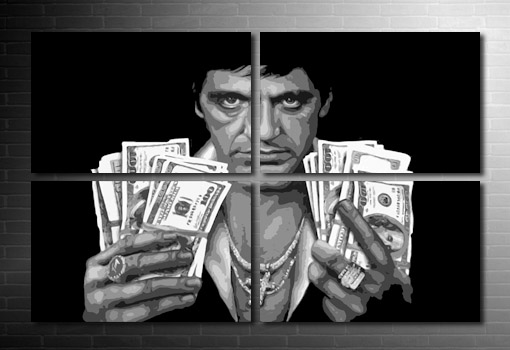 Scarface Canvas, scarface wall art, scarface movie art, scarface pop art, scarface print