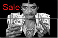 tony montana canvas print, scarface print, scarface canvas art print, movie canvas uk