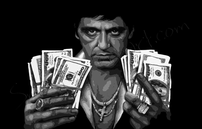 Scarface canvas scarface money - Scarface images ...