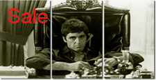 scarface canvas, scarface canvas prints, scarface pop art